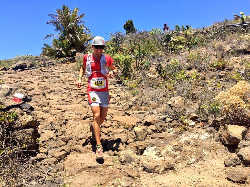 Descending from El Time in 6th place at 62k. Photo: Meghan Hicks of iRunFar