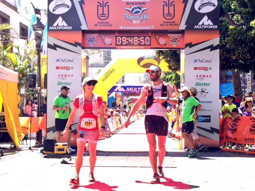 Finish line of the 2015 Transvulcania. Finished 6F 67OA in 9:48