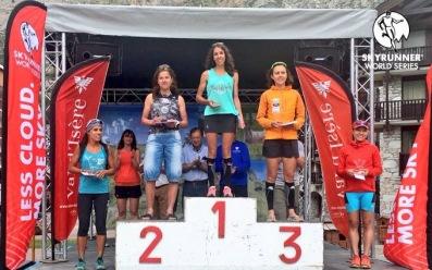 High Trail Vanoise 2016 women's podium. Photo: Ian Corless.