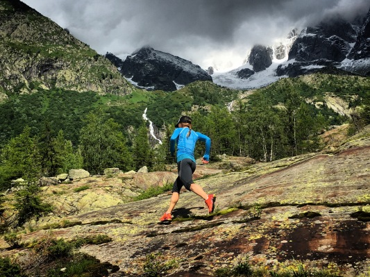 Training at Montevers, France with the La Sportiva Neptune 2.0 Long Sleeve shirt and Prima 3/4 bottoms.